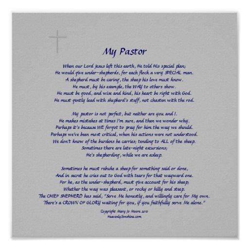 poem for pastor appreciation | pastors faint cross embellishment nice ...