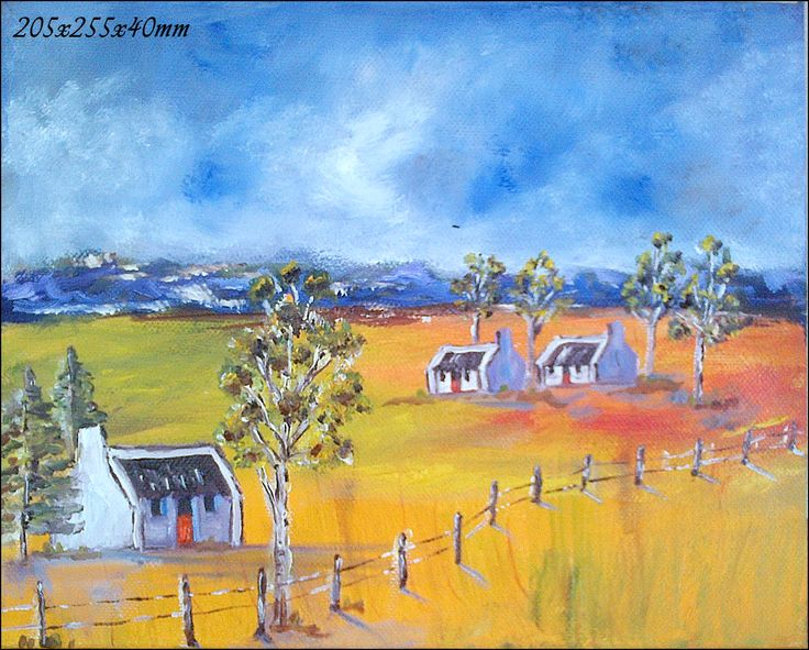 76	Namaqualand Four Landscape 	Oil Painting 	Stretched Canvas 400x300x40mm
