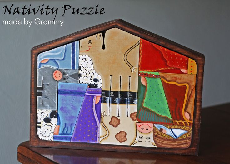 Wooden Nativity Puzzle | ... about my awesome mom who made these nativity puzzles for each family
