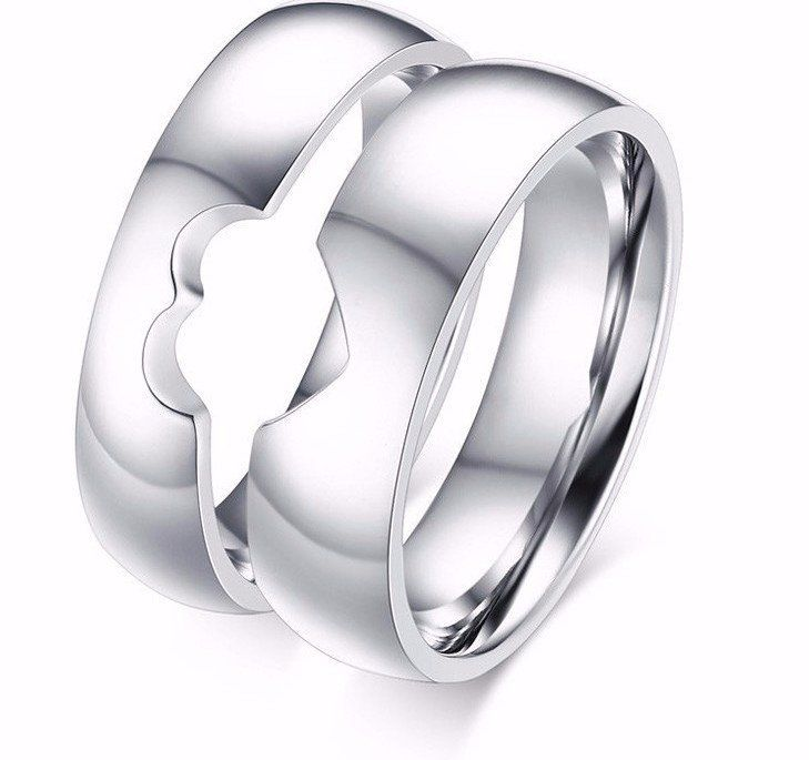 Couple One Heart Promise Rings