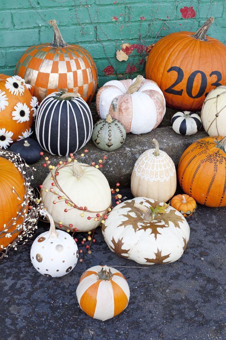 Easy No Carve Pumpkin Ideas Pumpkin Decorating Diy Halloween