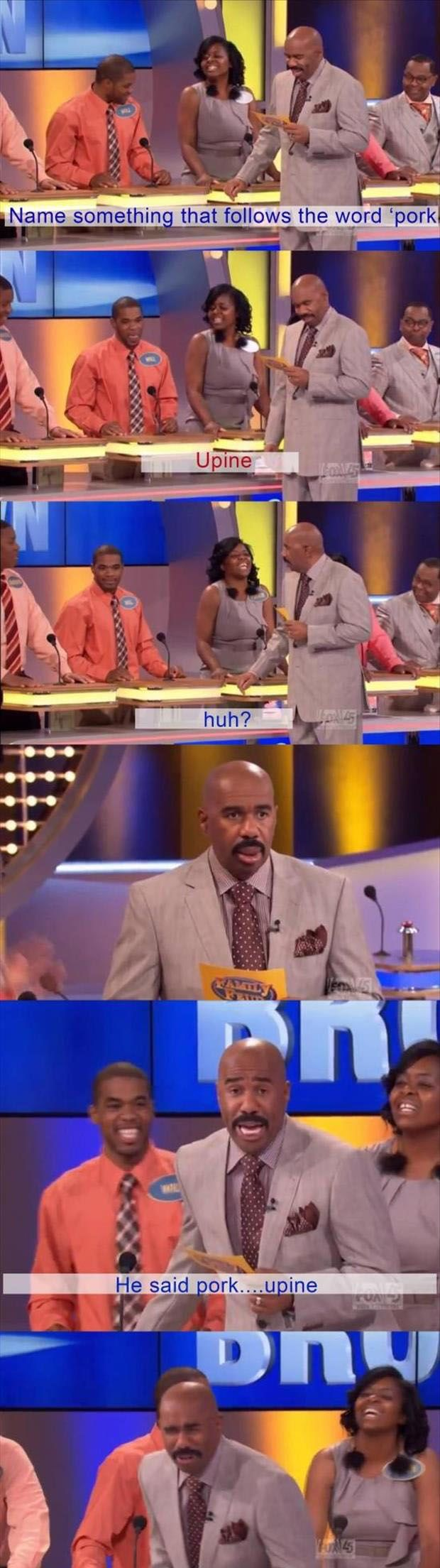 I'm not going to lie, I absolutely love watching Family Feud because Steve Harvey is hilarious.