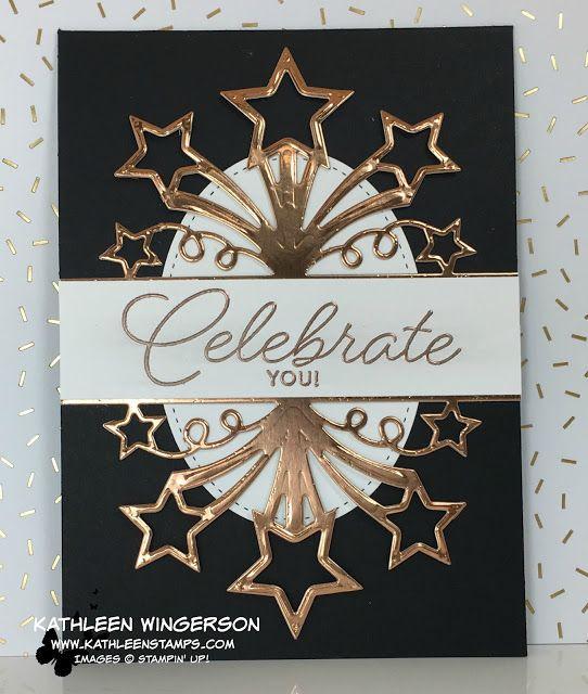 birthday blast,copper foil paper, copper embossing