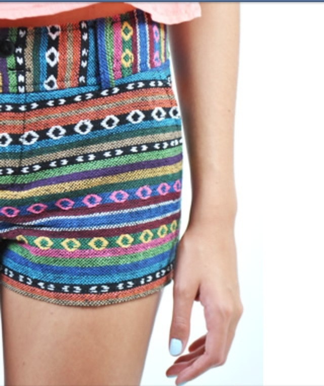 Tribal patterned shorts