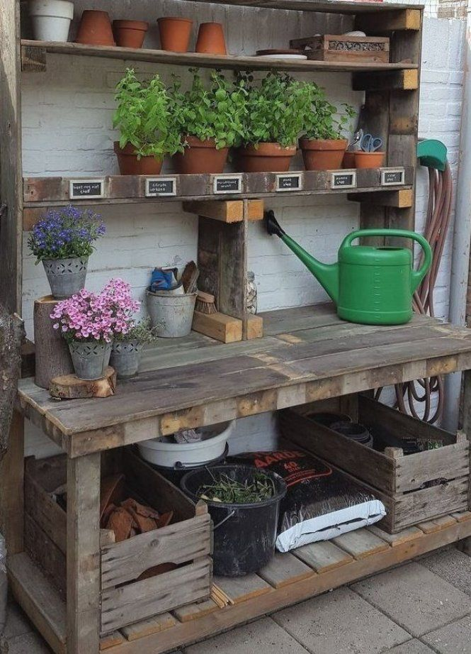 48 Creative Potting Bench Plans To Organized And Make Gardening Work Easy In 2020 Potting Bench Plans Potting Bench Old Fences