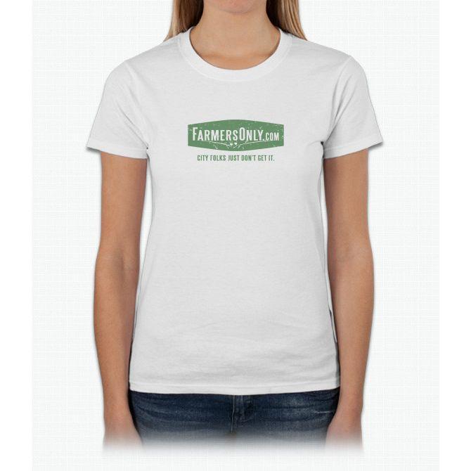 Farmers Only (green logo) Womens T-Shirt