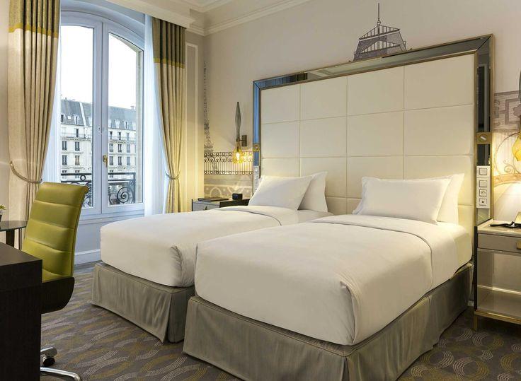 Hôtel hilton paris opera france chambre de luxe avec lits jumeaux