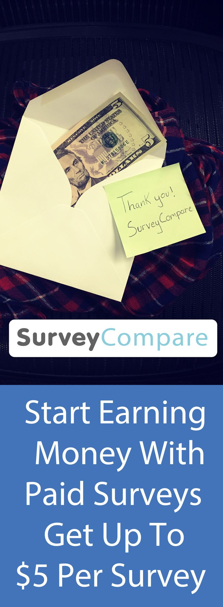The amount of money you can earn depends on how many companies you choose to sign up for and how long you want to spend completing surveys. For instance, the average survey pays $5; taking 5 surveys a day, 5 days a week gives $500/month. Find out more by clicking on the image.