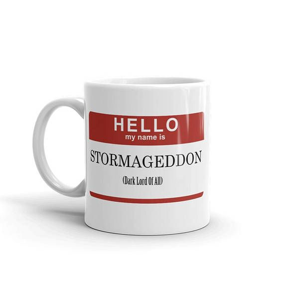 Doctor Who Stormageddon Mug Whether youre drinking your morning coffee, your evening tea, or something in between – this mugs for you! Its sturdy and glossy with a vivid print thatll withstand the microwave and dishwasher. • Ceramic • Dishwasher and microwave safe • White and