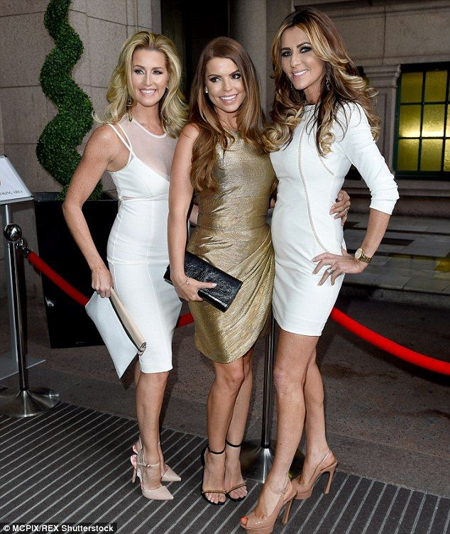 Here come the girls: Real Housewives of Cheshire star Dawn Ward (far right) joined forces ...