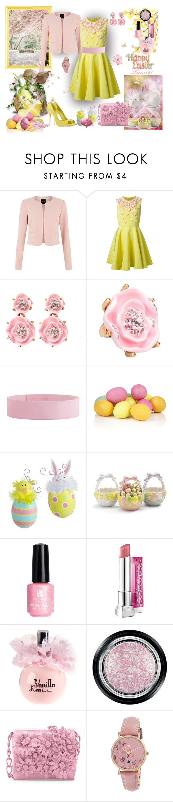 """happy Easter"" by lumi-21 ❤ liked on Polyvore featuring Giambattista Valli, Oscar de la Renta, Burberry, WALL, Harrods, Casadei, Pier 1 Imports, Red Carpet Manicure, H&M and Giorgio Armani"