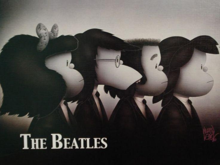 Mafalda: Mafalda Beatles, The Beatles, Beatles Forever, Beatles Mafalda, Illustration, Humor, Quino, Los Beatles, Mafalda Thebeatl