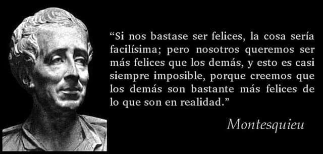 La felicidad segun Montesquieu