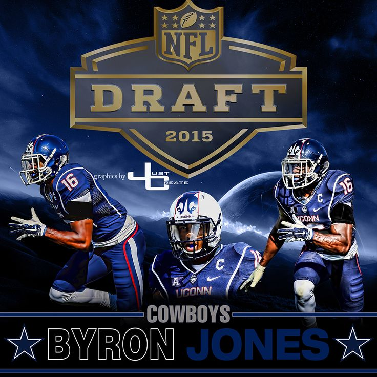The Dallas Cowboys selected Byron Jones, a cornerback from Connecticut with pick number 27 of the first round in the 2015 NFL draft. graphics by justcreate Sports Edits