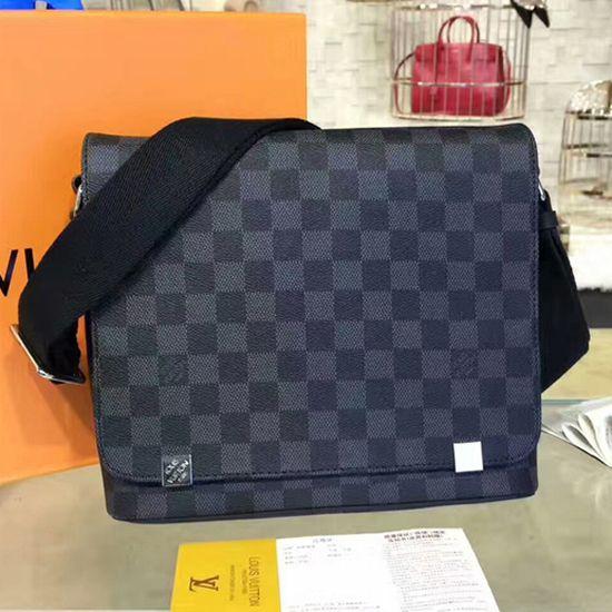 735b61dd58c8 Louis Vuitton N41028 District PM Messenger Bag Damier Graphite Canvas