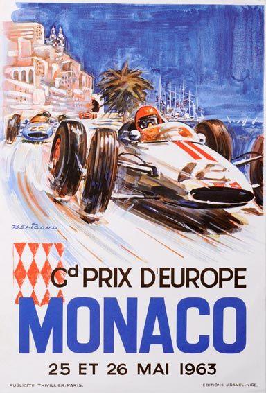 1963 Grand Prix F1 Monaco - 26 May 1963 - Winner Graham Hill#BRM - Al 78º passaggio Clark fu costretto al ritiro per la rottura del cambio. Hill, passato in testa, condusse fino al termine, vincendo davanti a Ginther, McLaren, Surtees, Maggs e Taylor.
