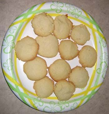 butter cookies -  •2 cups flour  •1 tsp baking powder  •1/2 tsp salt  •2 sticks (1 cup) unsalted butter, softened to room temperature  •1 cup sugar  •1 egg  •1 tsp vanilla extract