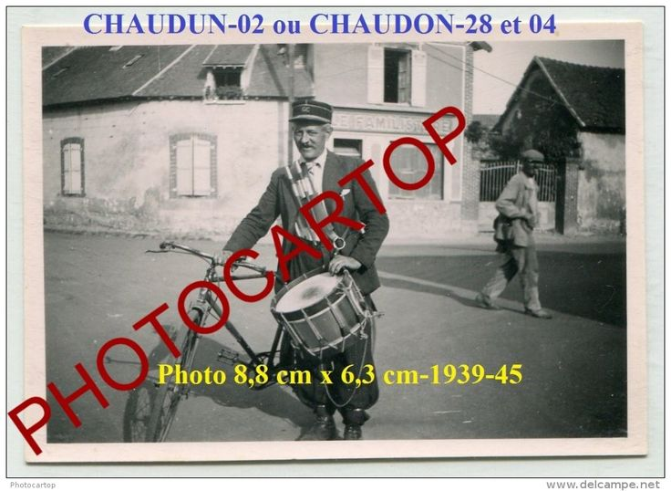 CHAUDUN Ou CHAUDON-Non Situee-GARDE-CHAMPETRE-Tambour-PHOTO Allemande-Guerre 39-45-II WK-France-02-28-04- - France