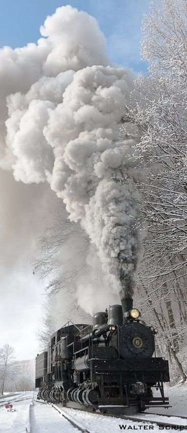 Photo: steam engine ... winter ...
