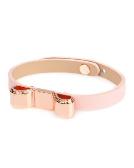 Bow bracelet - Light Pink | Gift Accessories | Ted Baker Evaluate.Shop.Style. ChristinaStyles.com