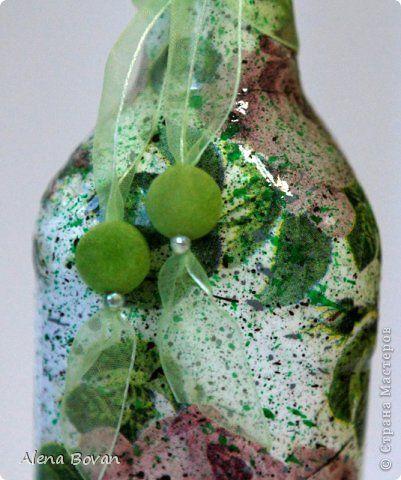 Декор предметов Декупаж ДЕКУПАЖ бутылочки новые и старые  Бутылки стеклянные Салфетки фото 60