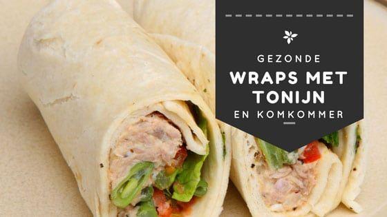 Makkelijk recept voor frisse gezonde wraps met tonijn die je perfect als lunch kunt gebruiken. Heel makkelijk te maken zonder mayonaise.