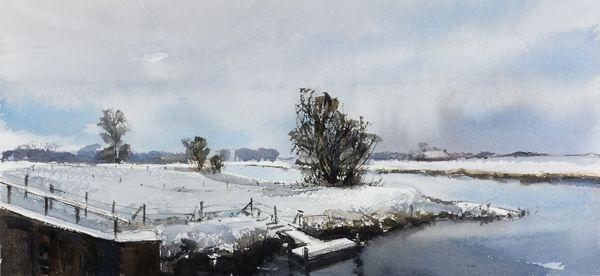 Arie Jekel | Cold Reitdiep | Watercolor