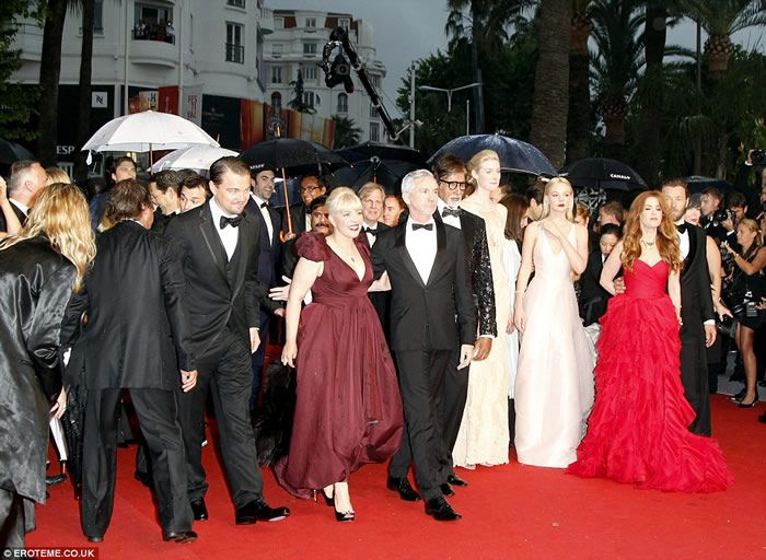 2013 Cannes Film Festival red carpet on the day of The Bling Ring