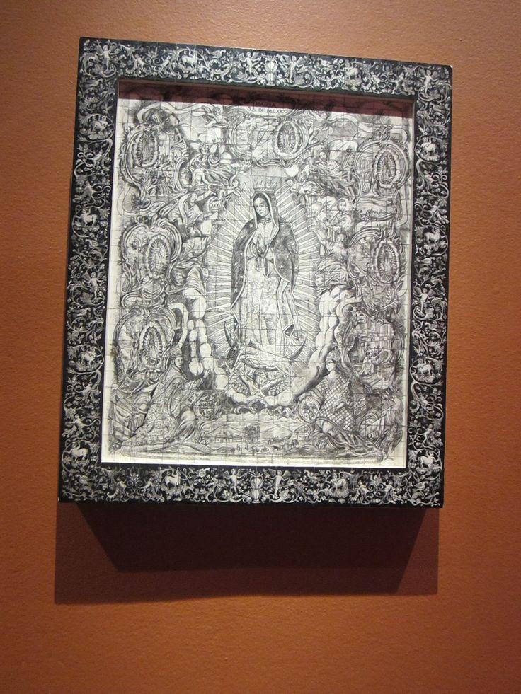 EDUARDO SANCHEZ RODRIGUEZ Virgen de Guadalupe 2007  Concha de nácar pulida, entintada y adherida sobre madera Nuevo León Monterrey, México