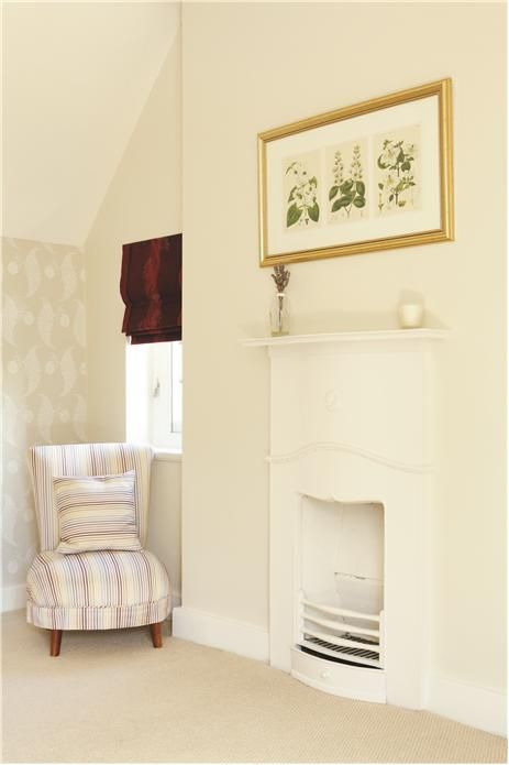 Farrow and Ball. Walls in White tie. Ceiling in Wimborne White. Trim in All White.