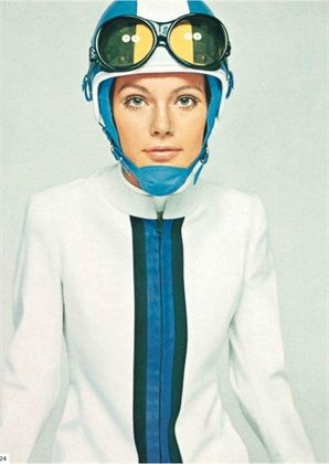 Vogue Italia, December 1967 Fusalp sportswear, Sandri Sport hat Photo by David Bailey