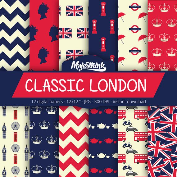 London Digital Paper CLASSIC LONDON with british by Majesthink