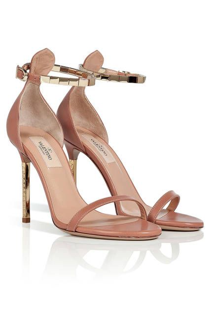 Nude, Aquazzura Amazon Electric Blue Snake Strappy Lace Up Sandals, $749.38; my-wardrobe.com Read more: Womens Designer Heels And Pumps - Womens Summer Heels Follow us: @ElleMagazine on Twitter | ellemagazine on Facebook Visit us at ELLE.com