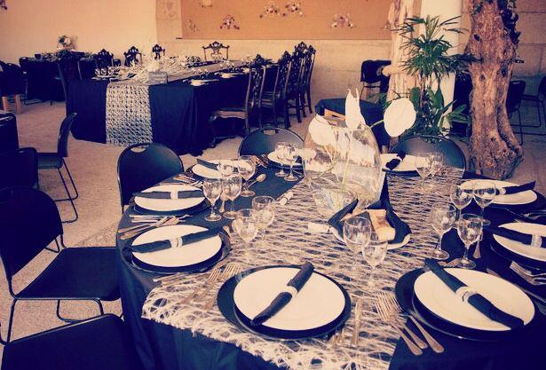 Vista de mesa de eventos