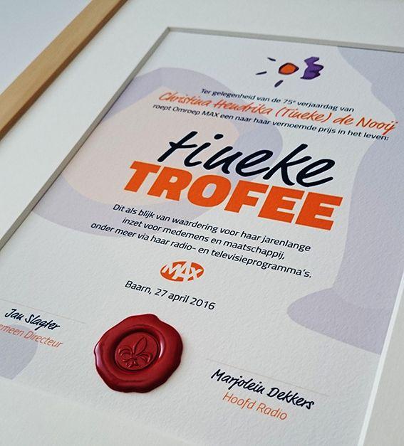 Trofee voor Tineke de Nooij. http://certificaatopmaat.nl/tineke-nooij-ontvangt-eerste-tineke-trofee/