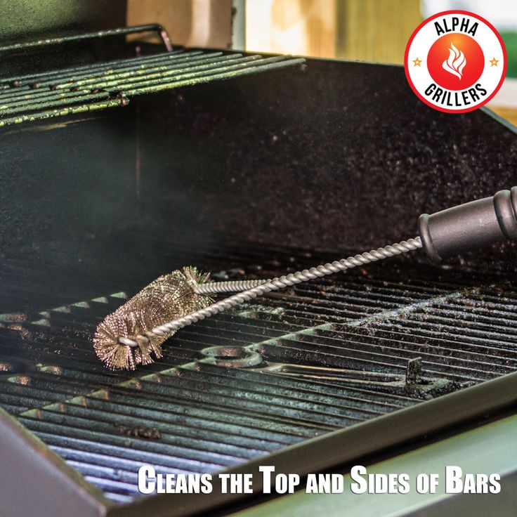 how to clean a grill grate without a brush