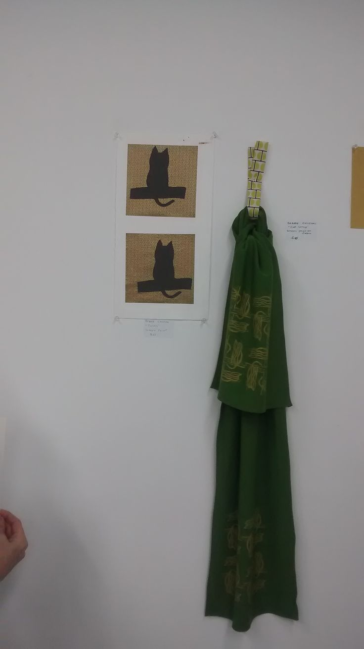 It's all a bit Kattie at my end of semester BIA exhibition!  Twins and Cat Wrap!