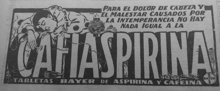 Cafiaspirina - Uruguay, 1923