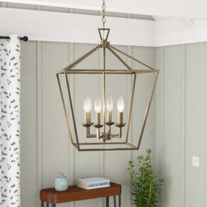 Duprey 6 Light Lantern Geometric Pendant Foyer Pendant