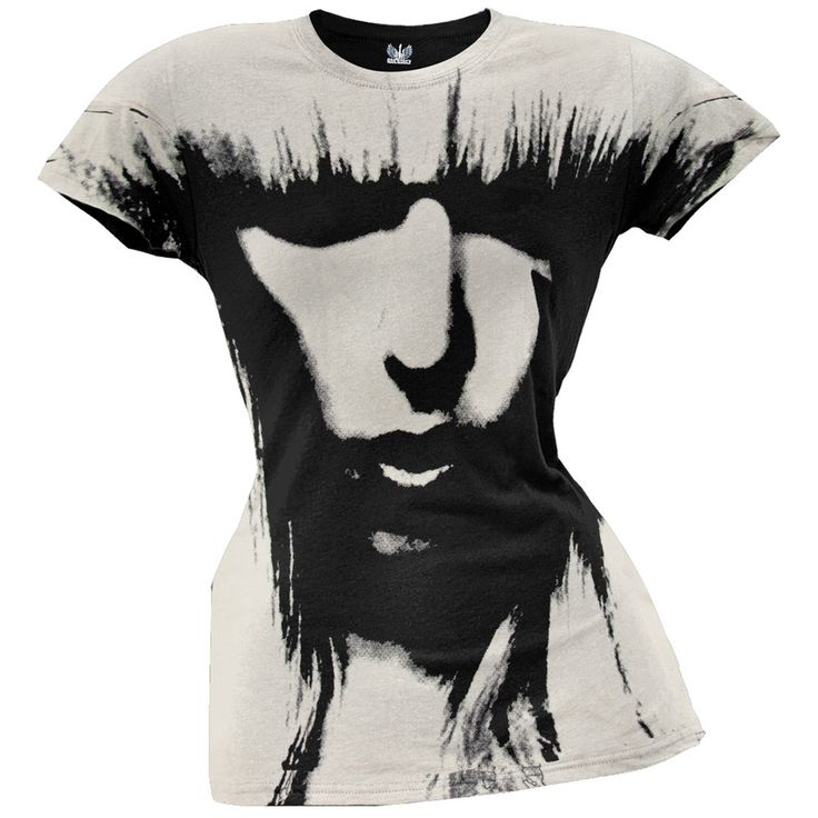 Lady Gaga - All-Over Face Juniors T-Shirt
