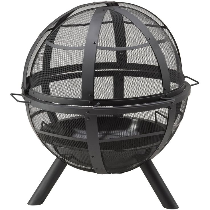 #bNew Landmann Fire Bowl Fire Pit Outdoor Fireplace Portable Backyard BBQ Black
