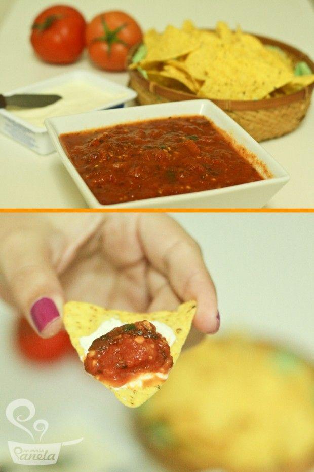 molho de tomate mexicano - Naminhapanela.com Blog de Culinária