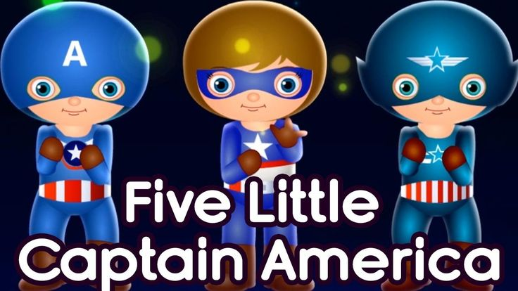 Five Little Captain America | Nursery Rhymes For Children | By TinyDream...