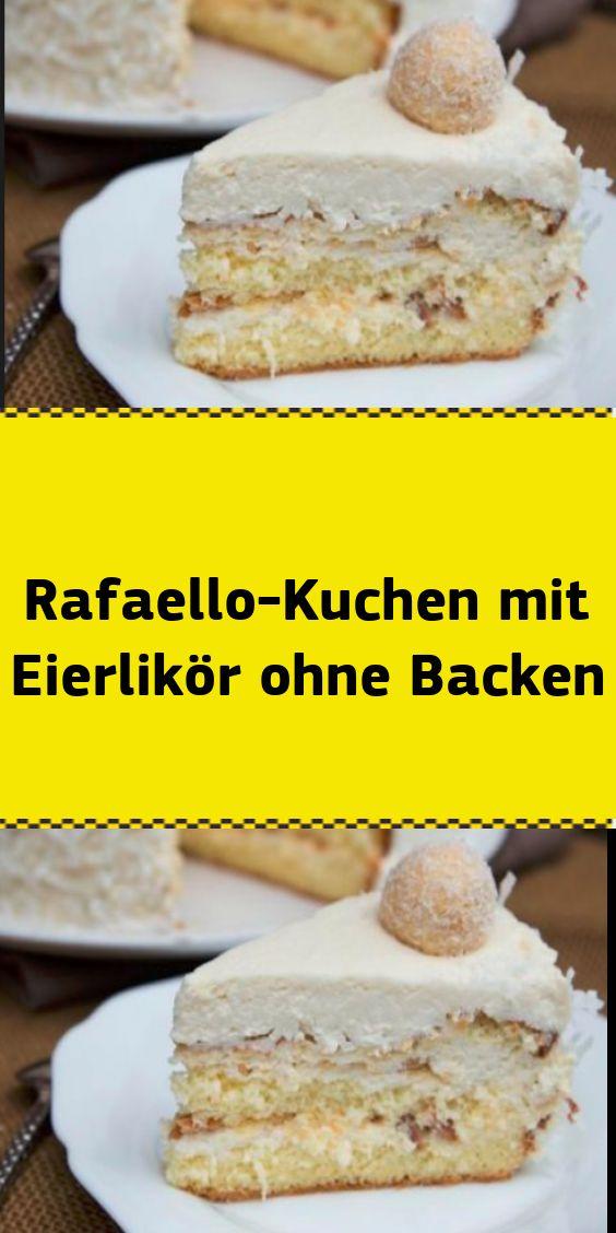 Pastel de Rafaello con ponche de huevo sin hornear   – NUR FÜR DICH