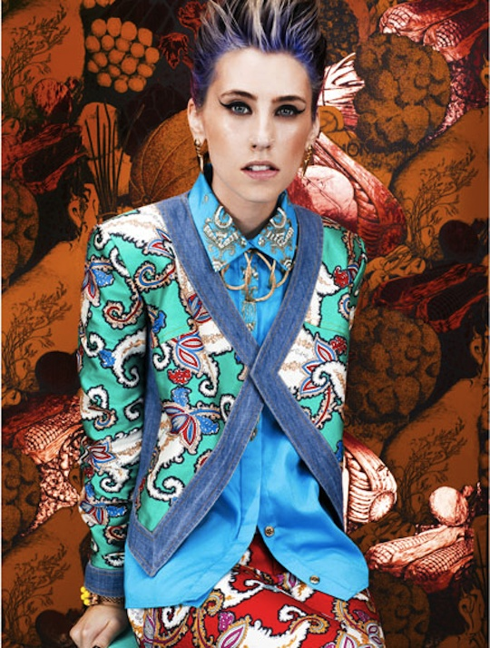 Kreayshawn shoot for Marie Claire magazine February 2012