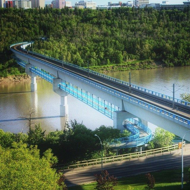 LRT over the beautiful River Valley