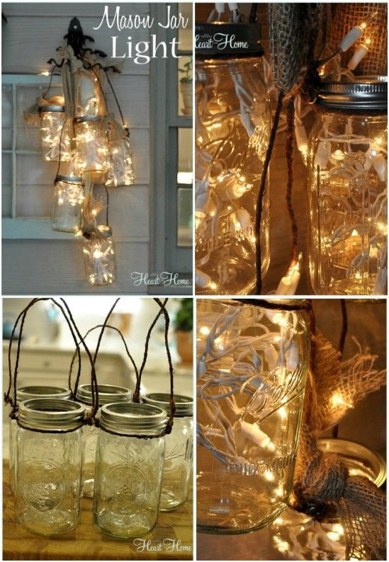 Cluster Light - 12 Magnificent Mason Jar Christmas Decorations You Can Make Yourself