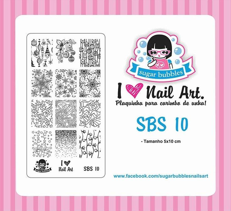 Small Nail Art Stamping Plate Sugar Bubbles SBS 10
