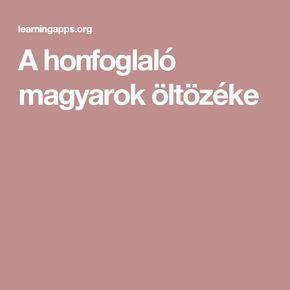 A honfoglaló magyarok öltözéke