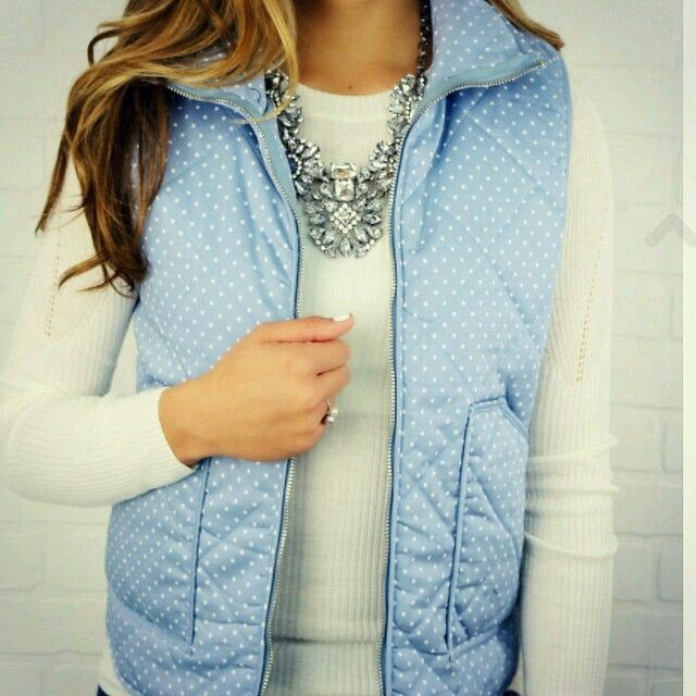 This blue vest is so cute!!